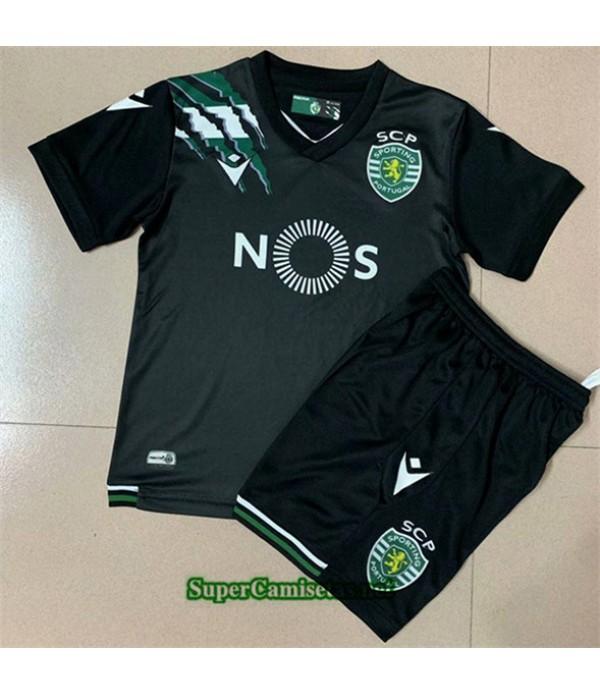 Tailandia Segunda Equipacion Camiseta Sporting Lisbon Niños 2020/21