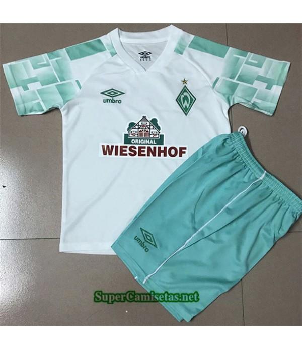 Tailandia Segunda Equipacion Camiseta Werder Brême Niños 2020/21