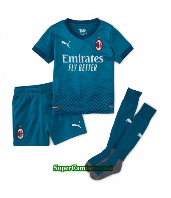 Tailandia Tercera Equipacion Camiseta Ac Milan Niños 2020/21