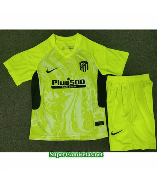 Tailandia Tercera Equipacion Camiseta Atletico Madrid Enfant Verde 2020/21