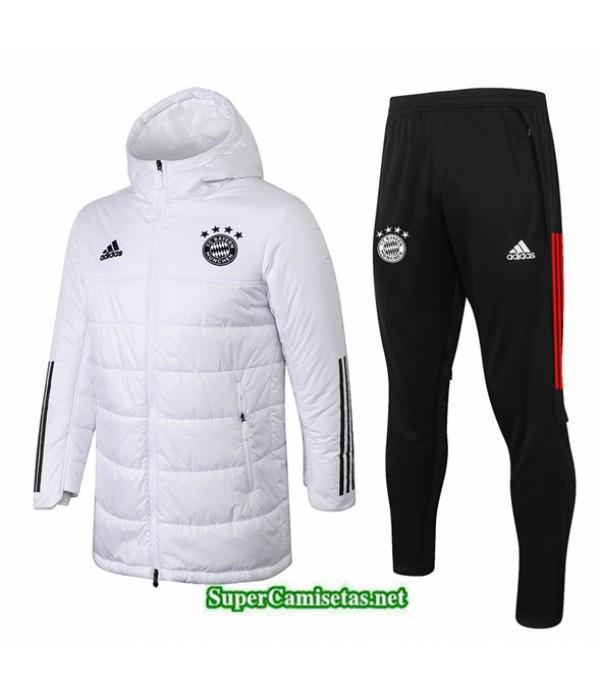 Tailandia Abrigo Acolchado Largo Bayern Munich Blanco 2020/21