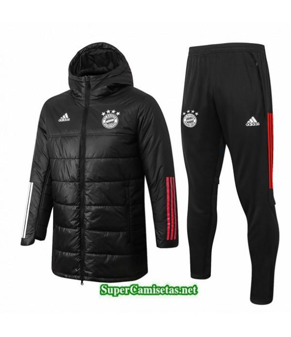 Tailandia Abrigo Acolchado Largo Bayern Munich Negro 2020/21
