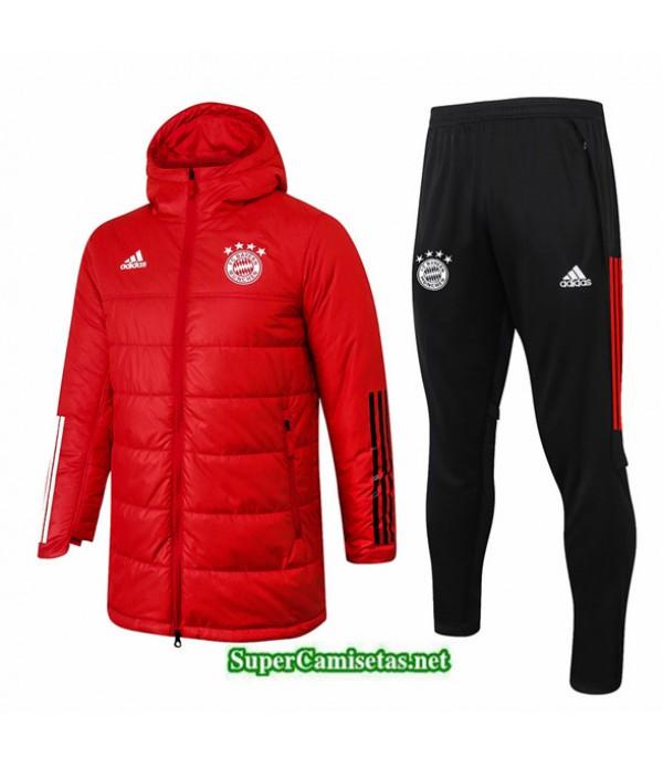 Tailandia Abrigo Acolchado Largo Bayern Munich Rojo 2020/21