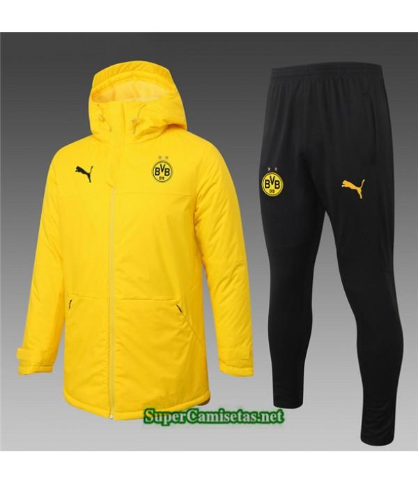 Tailandia Abrigo Acolchado Largo Borussia Dortmund Amarillo 2020/21