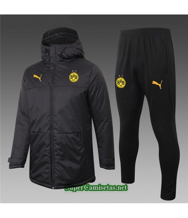 Tailandia Abrigo Acolchado Largo Borussia Dortmund Negro 2020/21