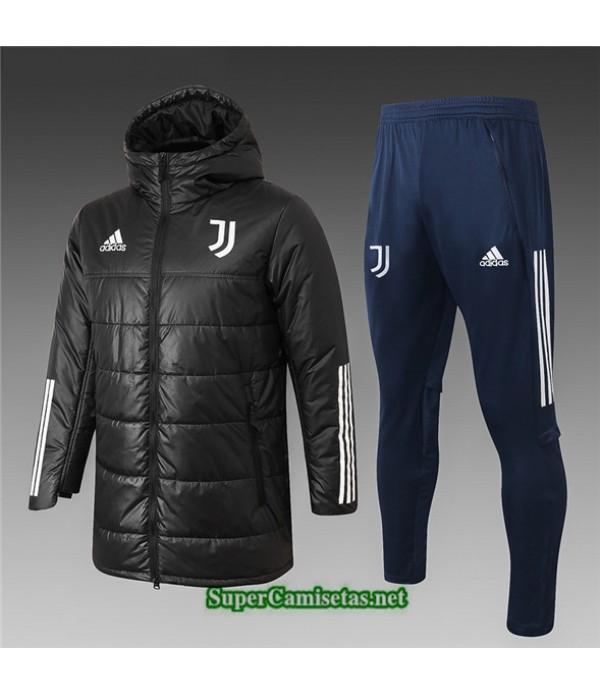 Tailandia Abrigo Acolchado Largo Juventus Negro 2020/21