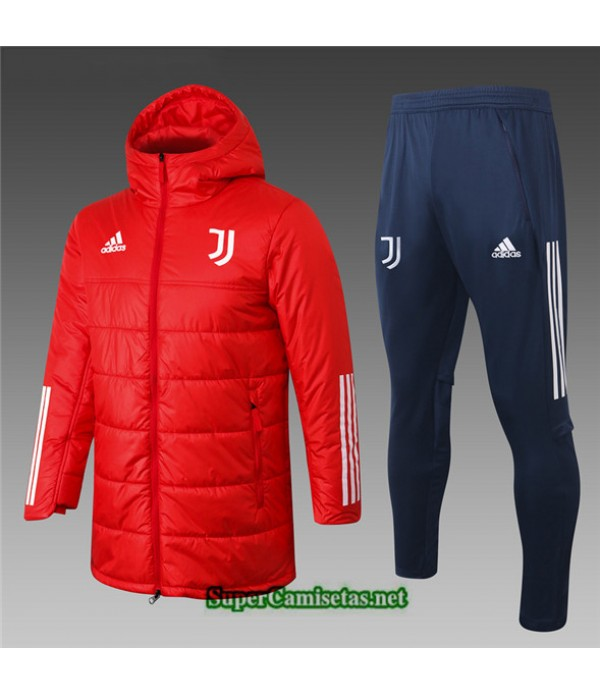 Tailandia Abrigo Acolchado Largo Juventus Rojo 2020/21