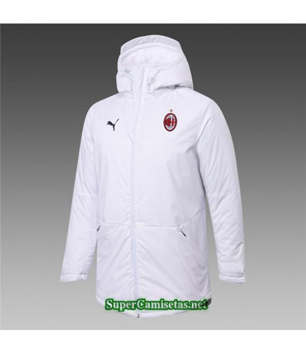 Tailandia Camiseta Ac Milan Chaqueta Doudoune Blanco 2020/21