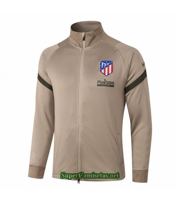 Tailandia Camiseta Atletico Madrid Chaqueta Caqui 2020/21