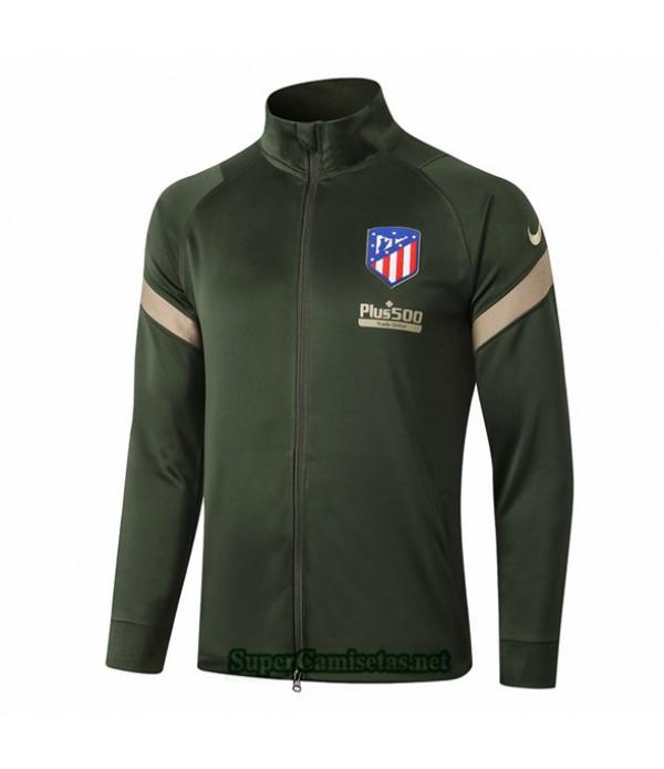 Tailandia Camiseta Atletico Madrid Chaqueta Ejercito Verde 2020/21