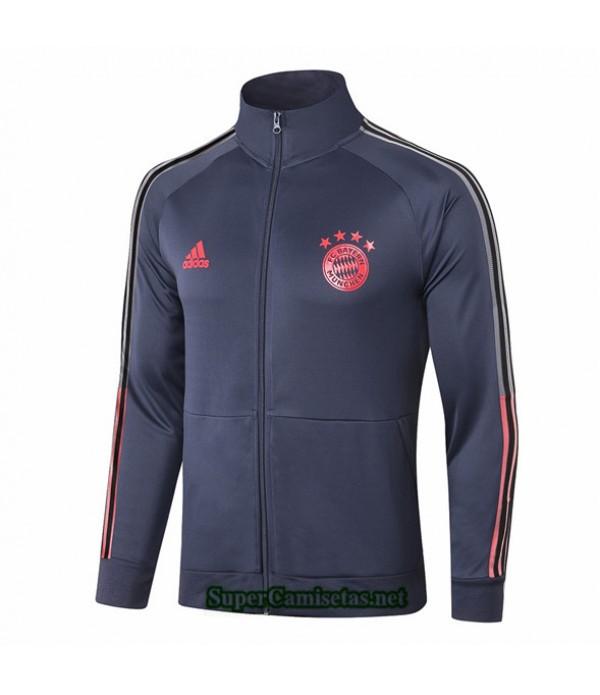 Tailandia Camiseta Bayern Munich Chaqueta Azul Oscuro 2020/21 Cuello Alto