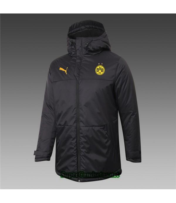 Tailandia Camiseta Borussia Dortmund Chaqueta Doudoune Negro 2020/21