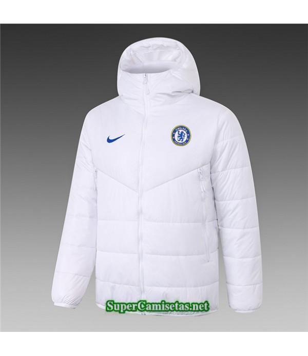 Tailandia Camiseta Chelsea Chaqueta Doudoune Blanco 2020/21
