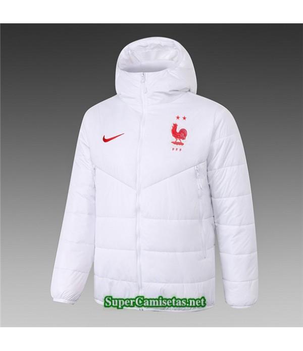 Tailandia Camiseta Francia Chaqueta Doudoune Blanco 2020/21