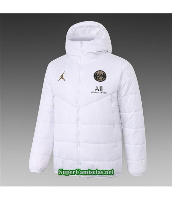 Tailandia Camiseta Jordan Psg Chaqueta Doudoune Blanco 2020/21