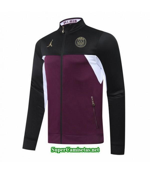 Tailandia Camiseta Jordan Psg Chaqueta Jujube Rojo/negro Cuello Alto 2020/21