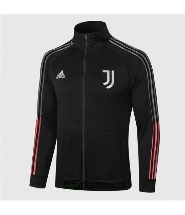 Tailandia Camiseta Juventus Chaqueta Negro 2020/21 Cuello Alto