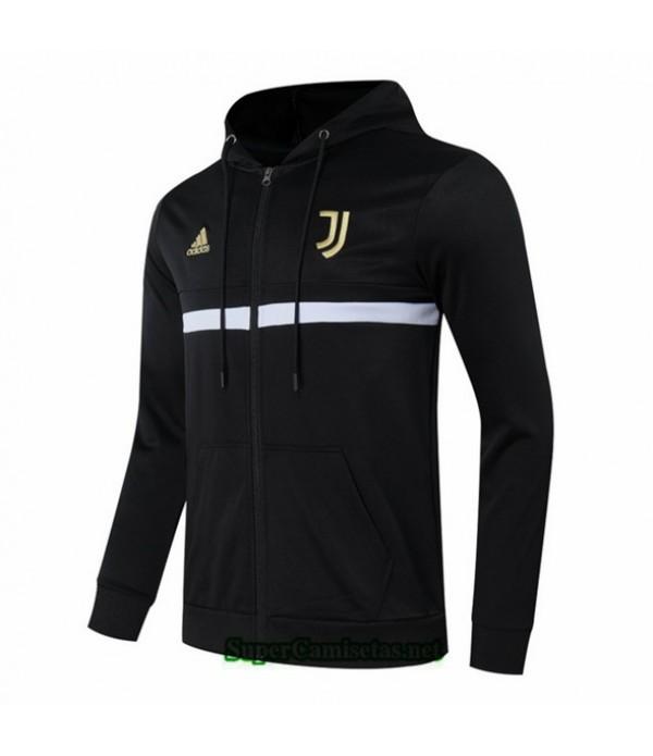 Tailandia Camiseta Juventus Chaqueta Sombrero Negro 2020/21