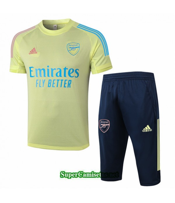 Tailandia Camiseta Kit De Entrenamiento Arsenal 3/4 Amarillo 2020/21