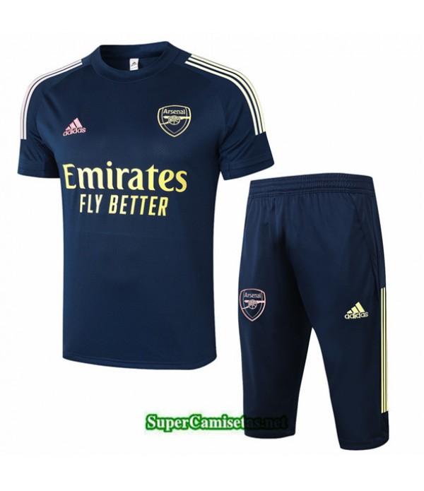 Tailandia Camiseta Kit De Entrenamiento Arsenal 3/4 Azul Oscuro 2020/21