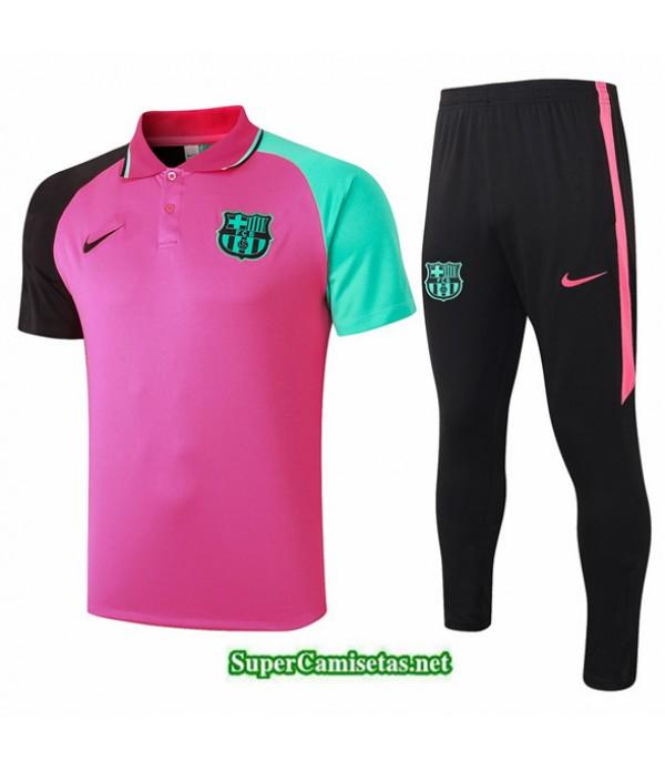 Tailandia Camiseta Kit De Entrenamiento Barcelona Polo Rosa 2020/21