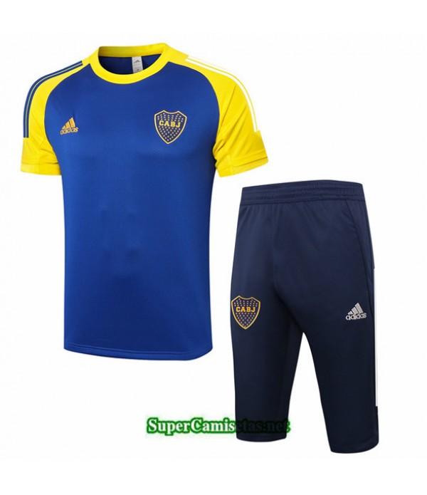 Tailandia Camiseta Kit De Entrenamiento Boca Juniors 3/4 Azul Profundo/amarillo 2020/21