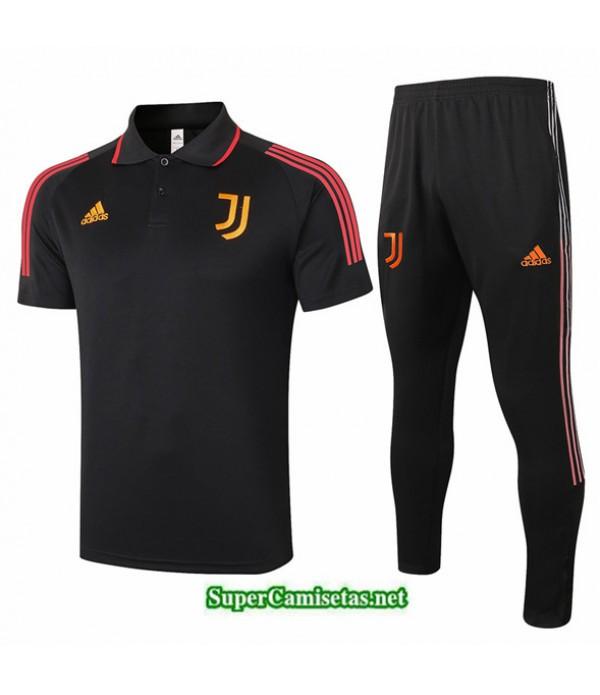 Tailandia Camiseta Kit De Entrenamiento Juventus Polo Negro/rojo 2020/21