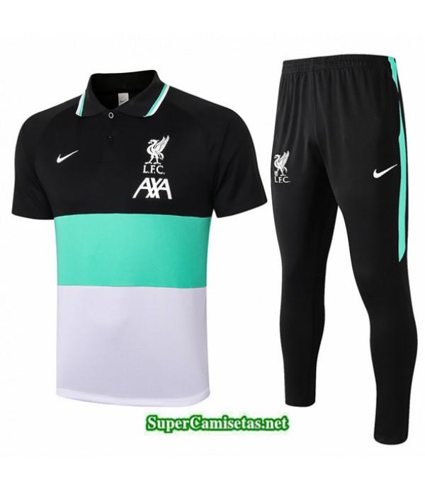 Tailandia Camiseta Kit De Entrenamiento Liverpool Polo Negro/bleu/blanco 2020/21