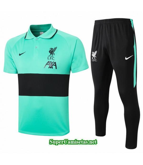 Tailandia Camiseta Kit De Entrenamiento Liverpool Polo Verde/negro 2020/21