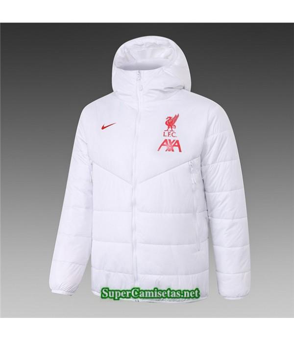 Tailandia Camiseta Liverpool Chaqueta Doudoune Blanco 2020/21