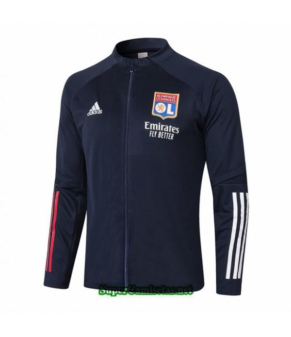 Tailandia Camiseta Lyon Chaqueta Azul Oscuro 2020/21