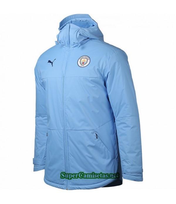 Tailandia Camiseta Manchester City Chaqueta Doudoune Azul Claro 2020/21