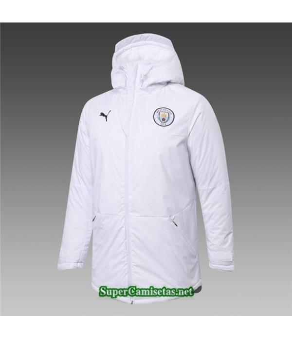Tailandia Camiseta Manchester City Chaqueta Doudoune Blanco 2020/21