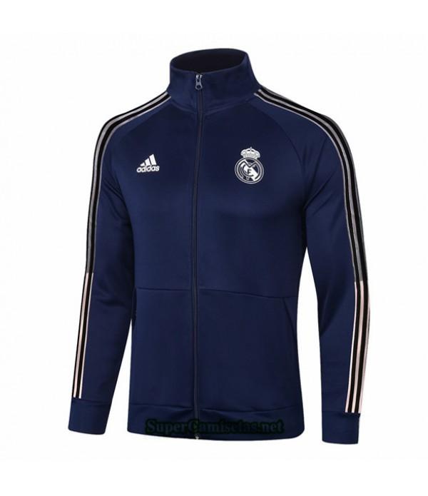 Tailandia Camiseta Real Madrid Chaqueta Azul Profundo Cuello Alto 2020/21