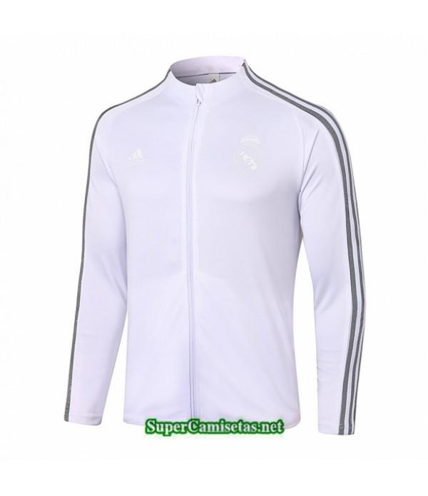 Tailandia Camiseta Real Madrid Chaqueta Blanco Cuello Alto 2020/21