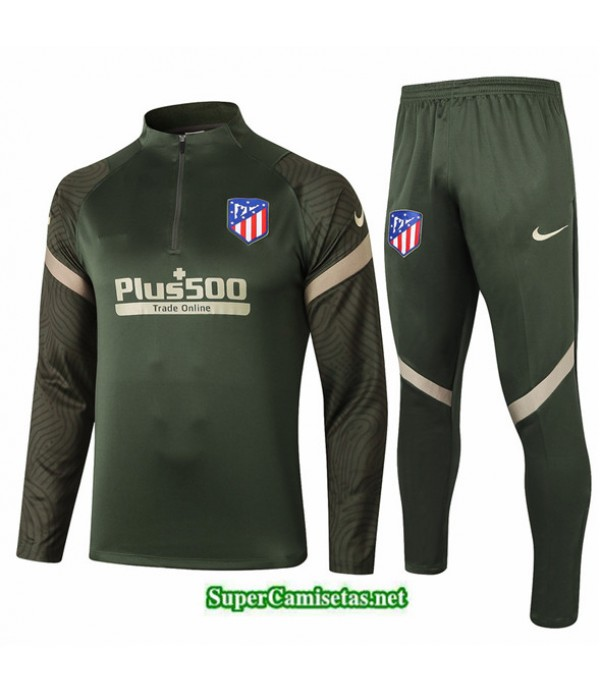 Tailandia Chandal Atletico Madrid Ejercito Verde 2020/21