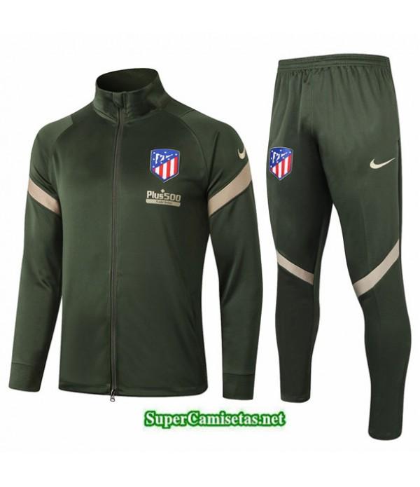 Tailandia Chaqueta Chandal Atletico Madrid Ejercito Verde 2020/21