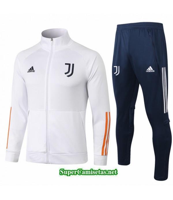 Tailandia Chaqueta Chandal Juventus Blanco 2020/21 Cuello Alto