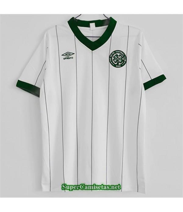 Tailandia Equipacion Camiseta Clasicas Celtic Hombre Blanco 1984 86
