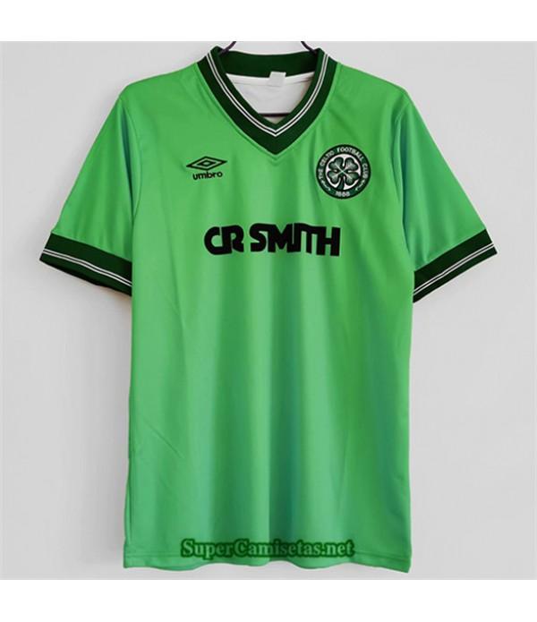Tailandia Equipacion Camiseta Clasicas Celtic Hombre Verde 1984 86