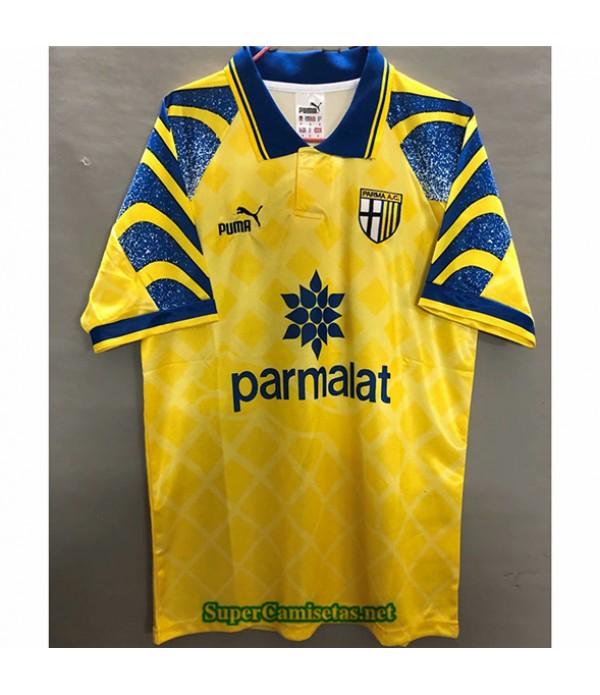 Tailandia Equipacion Camiseta Clasicas Parma Calcio Hombre Amarillo 1995 97
