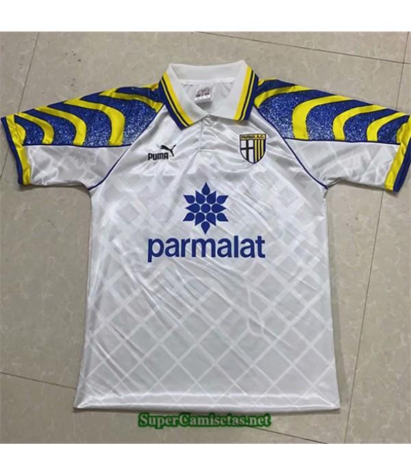 Tailandia Equipacion Camiseta Clasicas Parma Calcio Hombre Blanco 1995 97