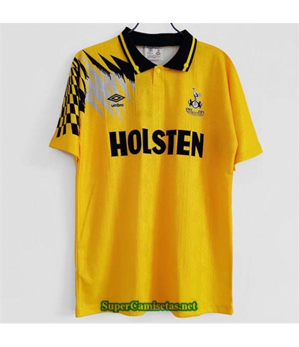 Tailandia Equipacion Camiseta Clasicas Tottenham Hotspur Amarillo 1992