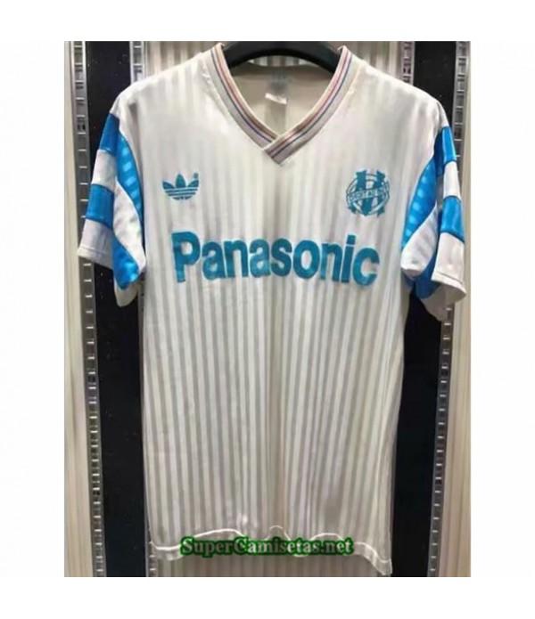Tailandia Equipacion Camiseta Clasicasmarsella Hombre Blanco