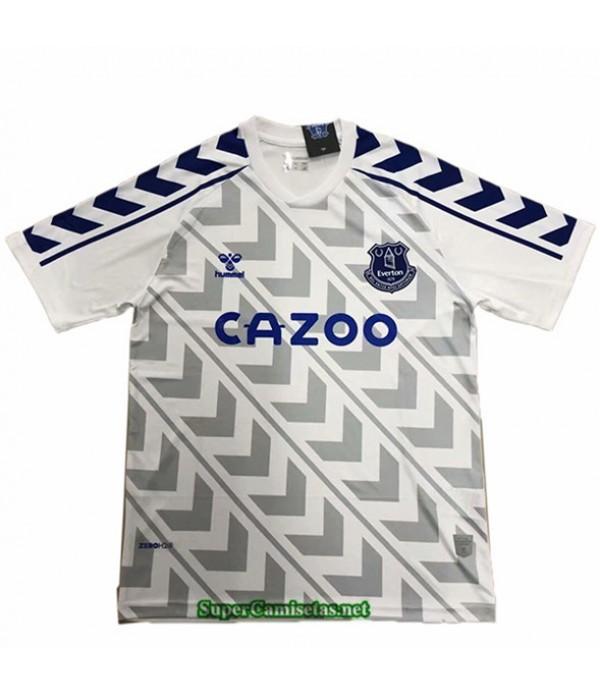 Tailandia Equipacion Camiseta Everton Blanco Entrenamiento 2020/21