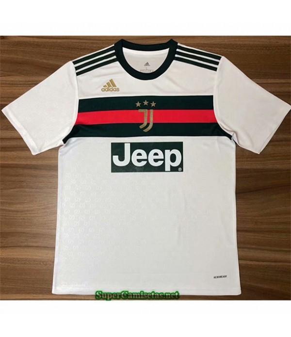 Tailandia Equipacion Camiseta Juventus Blanco Edic...