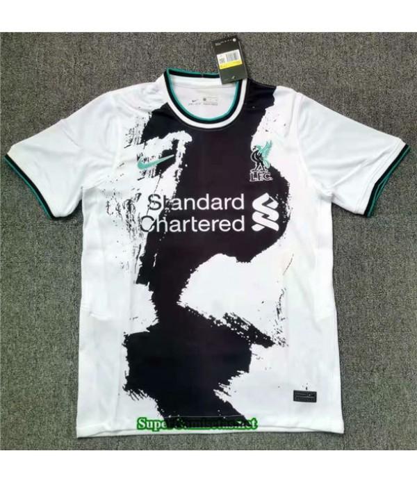 Tailandia Equipacion Camiseta Liverpool Blanco Ent...