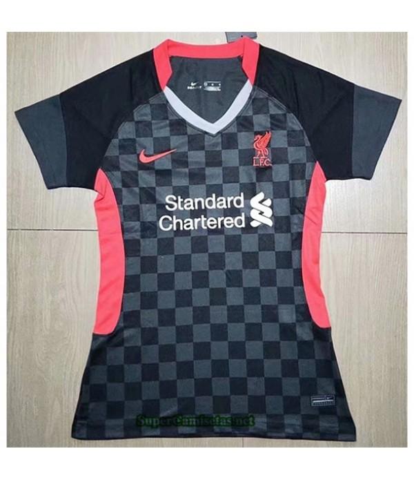 Tailandia Equipacion Camiseta Liverpool Femme Negr...