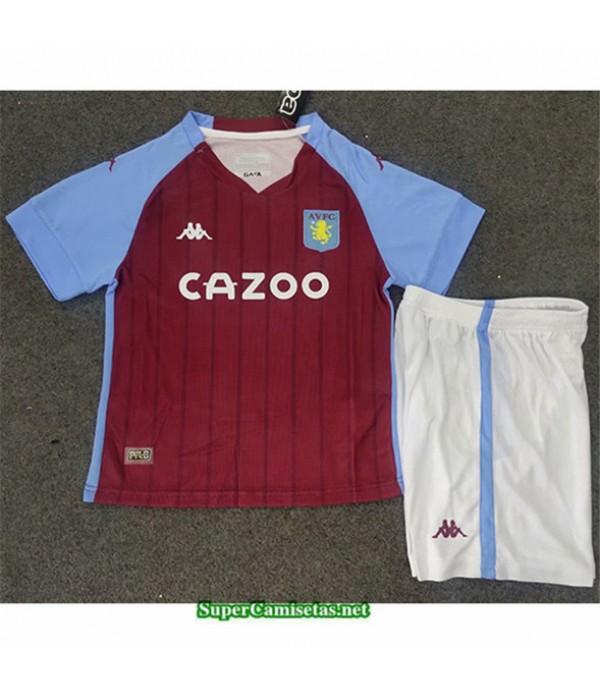 Tailandia Primera Equipacion Camiseta Aston Villa Niños 2020/21
