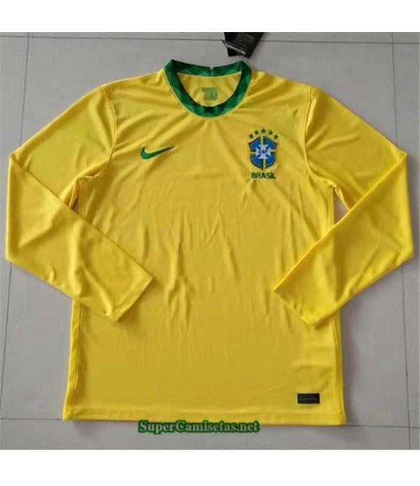 Tailandia Primera Equipacion Camiseta Brasil Manga Larga 2020/21